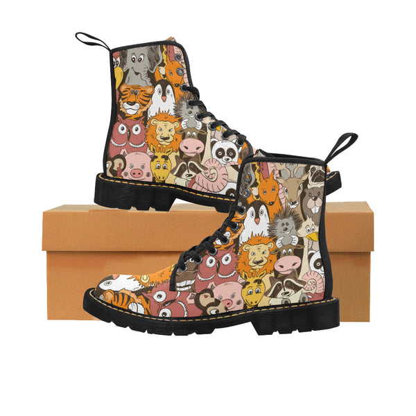 Le Colorful Psychedelic Funny Animals Martin Boots for Kids