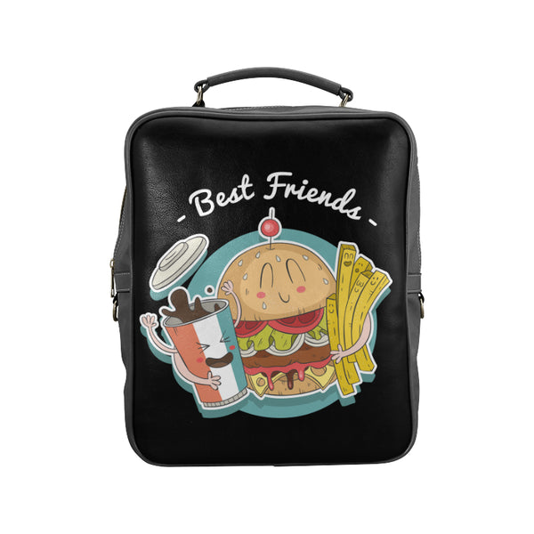Best Friends Back Pack - Black Square Backpack