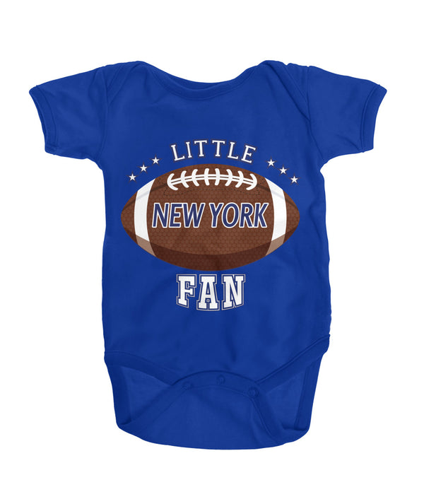 Little NewYork Football Fan Onesies