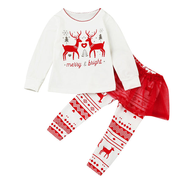 """Merry & Bright"" Tutu Pants Outfit Set"
