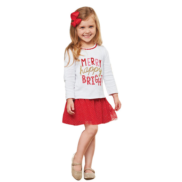 """Merry Happy Bright"" Tutu Outfit Set"