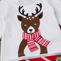 Reindeer Cartoon 3pc Outfit Set