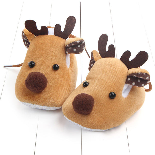Reindeer-shaped Brown Baby Shoes