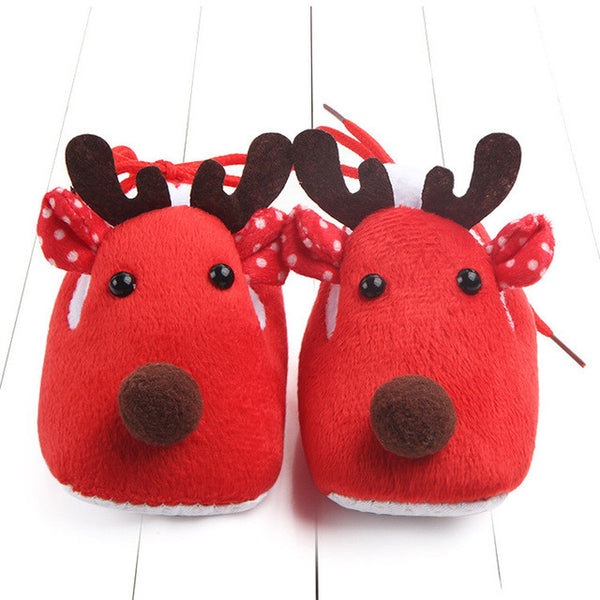 Reindeer-shaped Red Baby Shoes