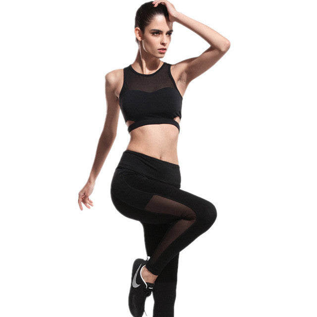 Womens Yoga Sports Bra and Pants Set Sportswear
