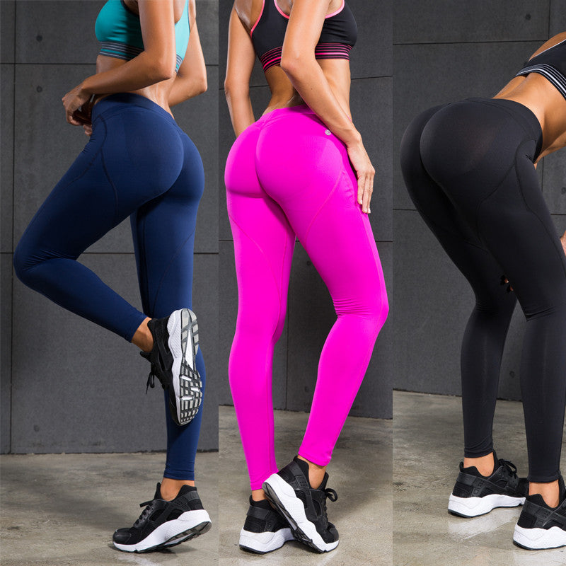 Women's Yoga Pants Compression Shaping Silicone Sportwear