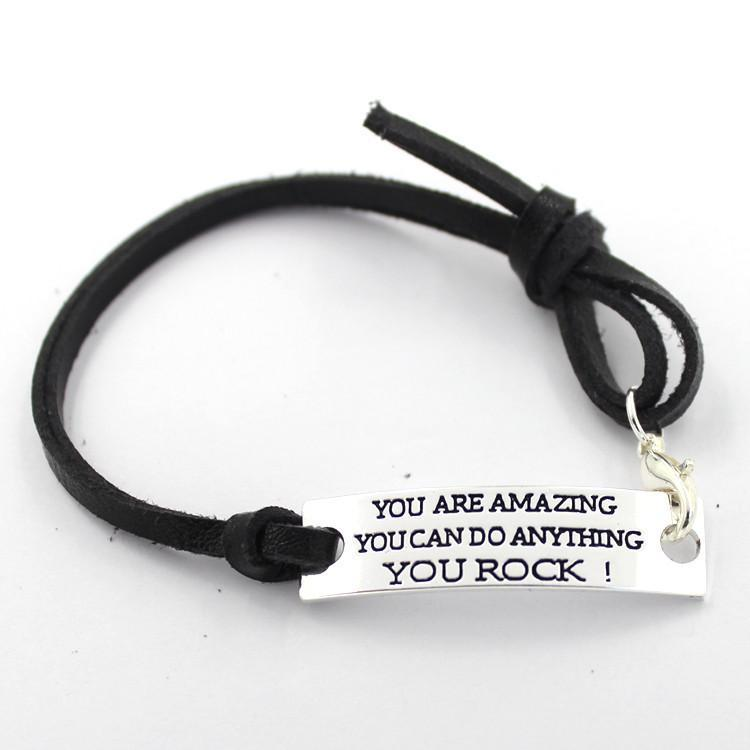 YOU ARE AMAZING YOU CAN DO ANYTHING YOU ROCK Bracelet - Seven Mania