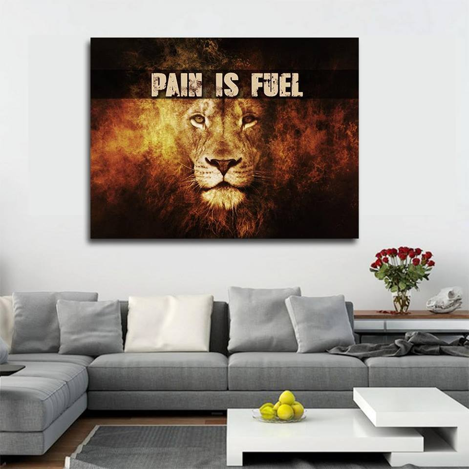 Pain is Fuel Canvas