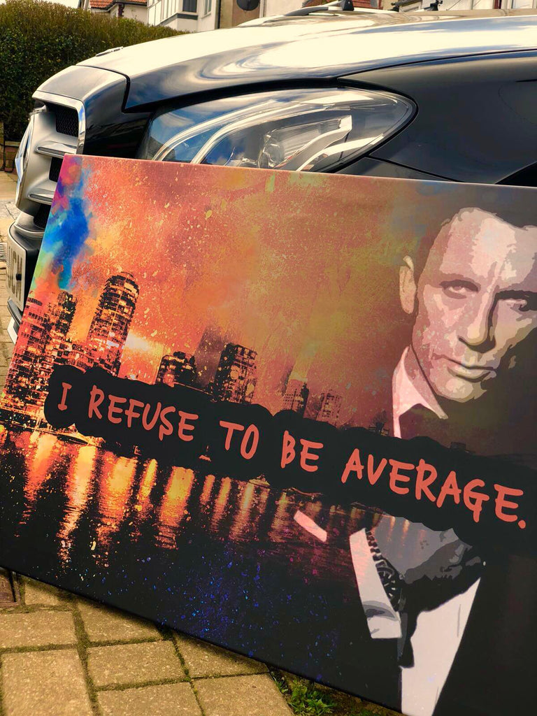 Refuse to be average Canvas - Seven Mania