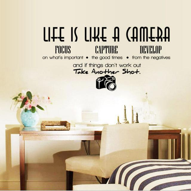 life is like a camera quote wall sticker | deep motivation