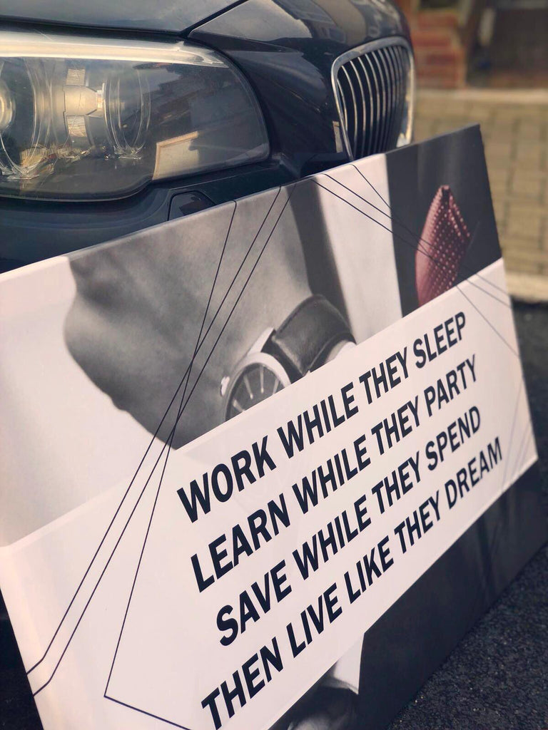 Work While They Sleep Canvas - Seven Mania