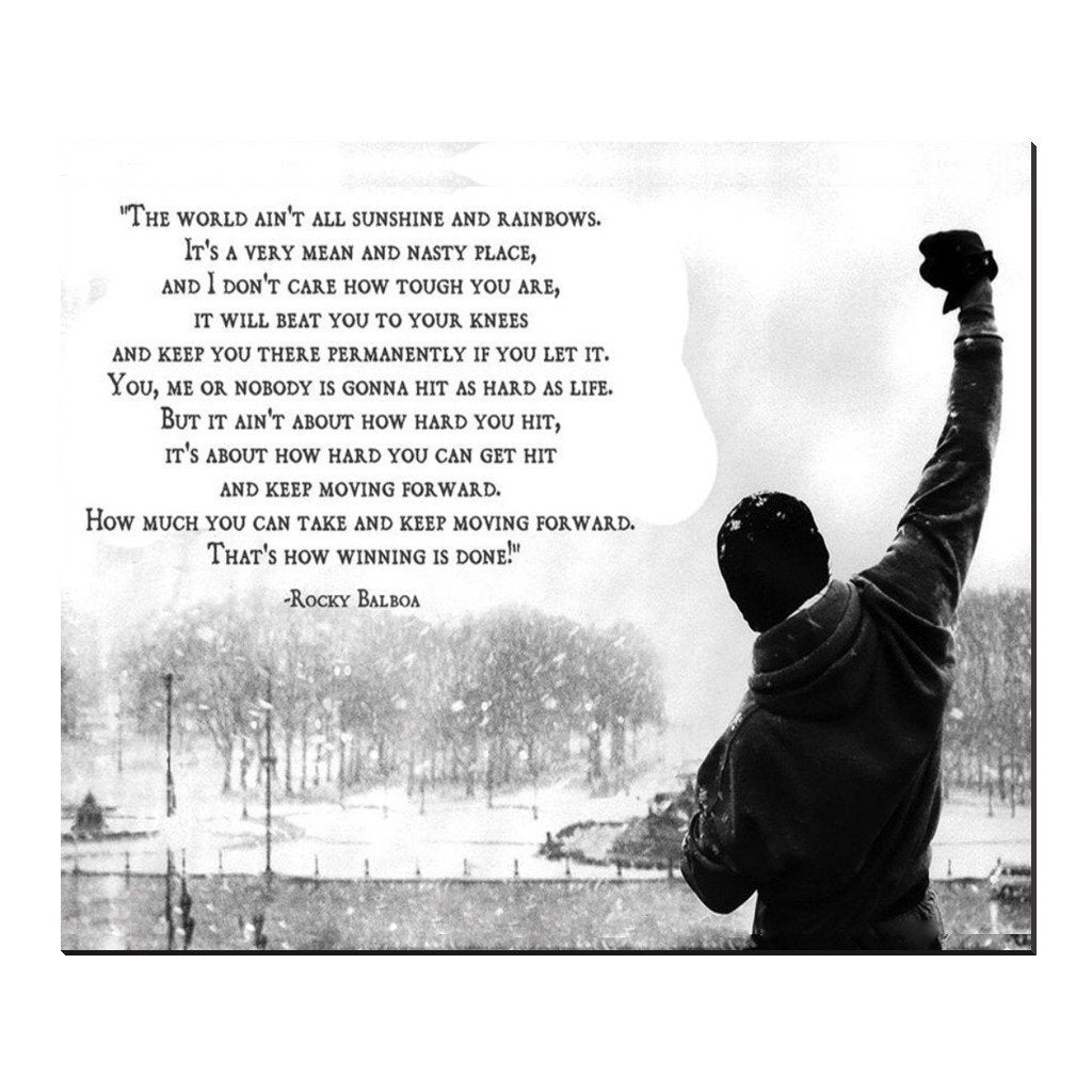 ROCKY BALBOA SPEECH CANVAS - Seven Mania