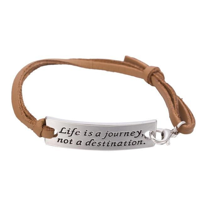 LIFE IS A JOURNEY NOT A DESTINATION Inspirational Bracelet - Seven Mania