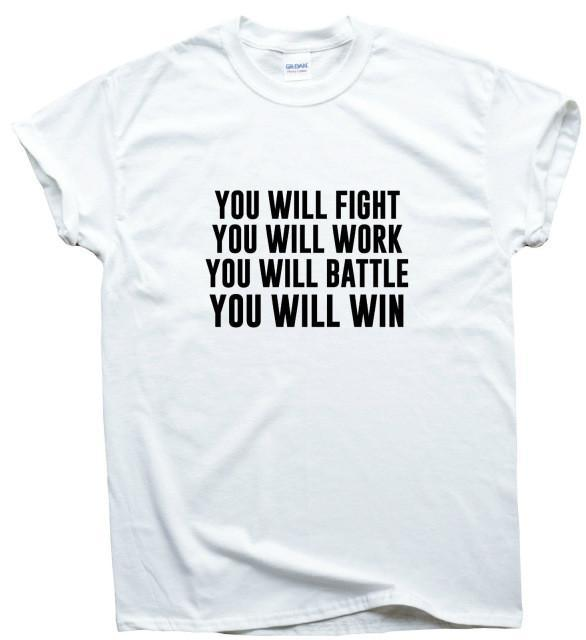 Motivational Fight Work Battle Win T-shirt - Seven Mania