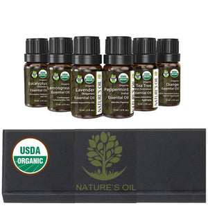 Certified Organic Essential Oil Collection - USA Manufacturer  6 x 15ml (.5oz) - Electric Bicycle