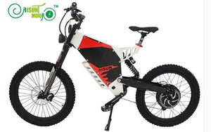 ConhisMotor Exclusive FC-1 Electric Mountain eBike with 48V 1500W 37.5 Ah Lithium Battery and Customized Front and Rear Suspension - Electric Bicycle