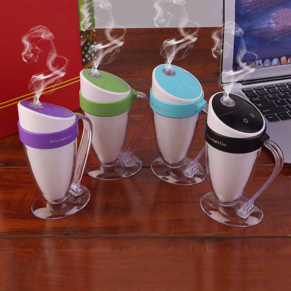 Hot LED Light Humidifier Moonlight Cup USB Humidifier Essential Oil Diffuser Ultrasonic Home Air Humidifier Mist Maker Fogger - Electric Bicycle