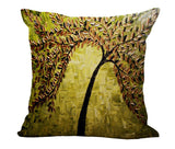 "Trees Printed Woven Linen Pillow Case 18"" x 18"" (45cm x 45 cm) - Great Selection - Electric Bicycle"