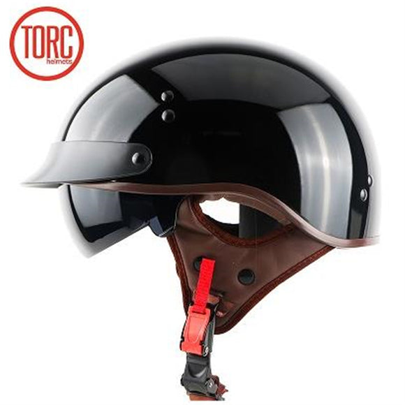 TORC Harley style motorbike helmet Professional Motorcycle helmet washable liner and DOT safety Standard - Electric Bicycle