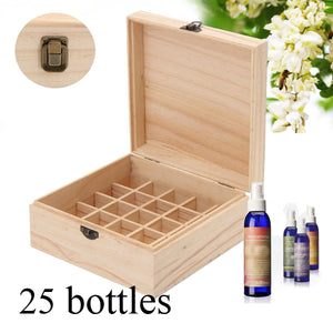 25 Slot Wooden Essential Oil Aromatherapy Storage Organizer - Electric Bicycle