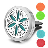 316L Stainless Steel Essential Oil Car Diffuser Locket Vent Clip with 5 Free Oil Pads - Electric Bicycle