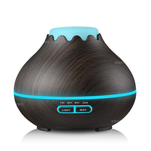 400ml Air Essential Oil Diffuser Aroma Lamp Woodgrain - Electric Bicycle