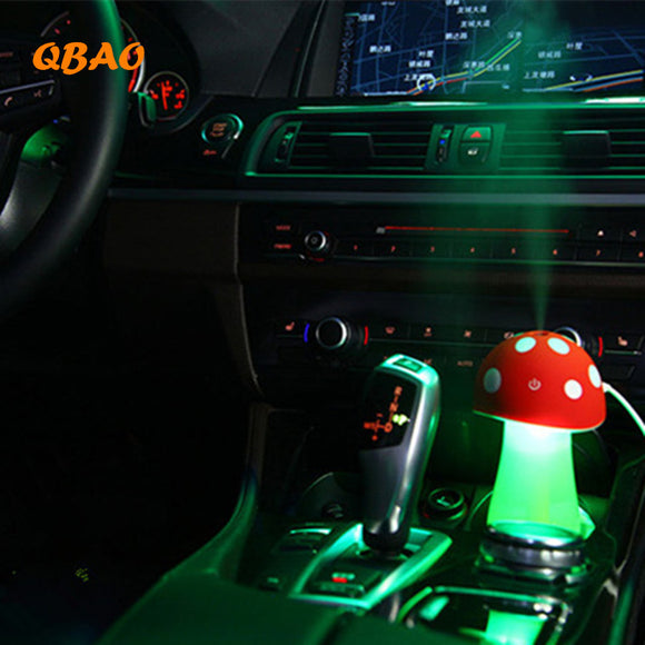 LED Car Essential Oil Diffuser Mushroom 5V USB Mist Purifier Atomizer For Car - Electric Bicycle