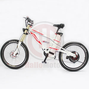 ConhisMotor Mustang Powerful 48V 1000W 20Ah Mountain Electric Bicycle with Li-ion Battery and Strong White Frame - Electric Bicycle