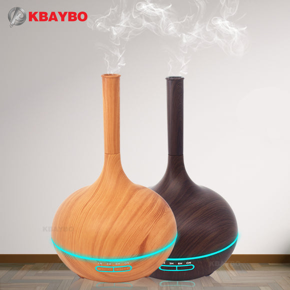 400ml Aroma Essential Oil Diffuser Wood Grain Ultrasonic Cool Mist - International Choice of Plug - Electric Bicycle