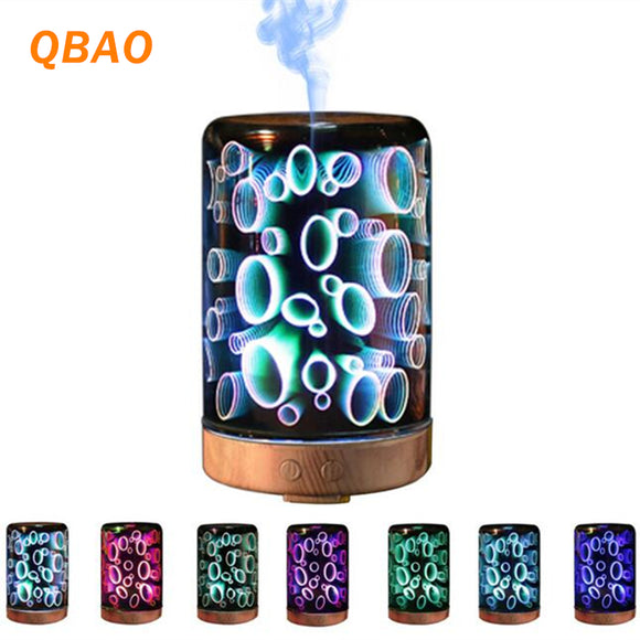 3D Essential Oil Diffuser Lamp 100-240V 100ml Ultra-quiet Portable Ultrasonic - Electric Bicycle