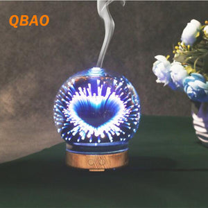 Hearts 3D Colorful Essential Oil Aromatherapy Diffuser Mist Maker For Office 24V 12W 100ml - Electric Bicycle