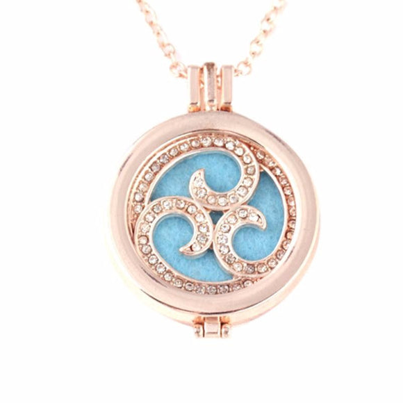 Aromatherapy Essential Oil Diffuser Necklace Locket - Electric Bicycle