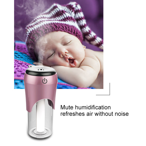Mini Fashionable Car Diffuser Essential Oil Ultrasonic Aroma Mist Purifier - Dual USB Charger - Electric Bicycle