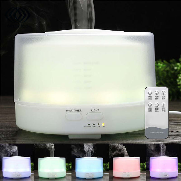 500ml Ultrasonic Aroma Humidifier Essential Oil Diffuser Aromatherapy Diffuser LED Lights Changing Mist Maker 100-240V US Plug - Electric Bicycle