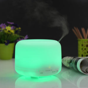 500ml LED Light Essential Oil Aroma Diffuser Ultrasonic Mist - Electric Bicycle
