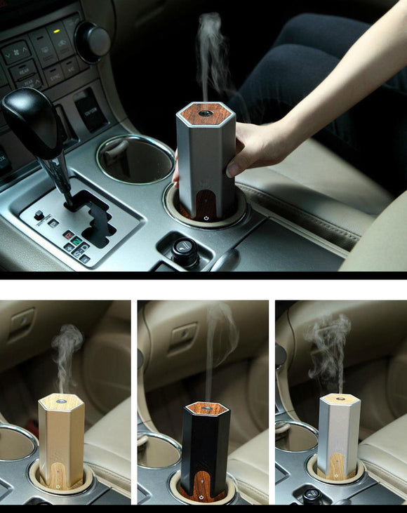 USB Car Ultrasonic Aromatherapy Essential Oil Diffuser - Fits in Cup Holder - Electric Bicycle