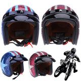 Motorcycle Helmets DOT Certificated Retro Star Printing L Size Motorcycle Rider Safety Helmet Motorbike Half Face Helmet New - Electric Bicycle