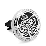 Stainless Steel Essential Oil Car Diffuser Vent Clip - Unique Designs CG21-40 - Electric Bicycle