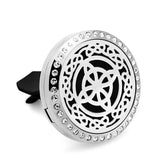 Stainless Steel Essential Oil Car Diffuser Vent Clip - Unique Designs CG101-120 - Electric Bicycle