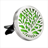 Stainless Steel Essential Oil Car Diffuser Vent Clip with 10 Free Oil Pads - 20 Designs - Electric Bicycle