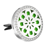 Stainless Steel RHINESTONE Essential Oil Car Diffuser Vent Clip -10 Free Oil Pads - 20 Designs - Electric Bicycle