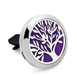 Tree Collection Stainless Steel Essential Oil Car Diffuser Vent Clip. 10 Free Oil Pads - 20 Designs - Electric Bicycle