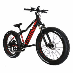 Tomini 7 Speed Electric Mountain Bike Large Capacity Li-ion Battery and Aluminium Alloy Frame for Off-road Cycling - Electric Bicycle