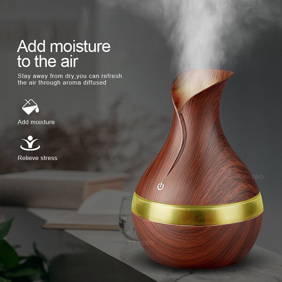 KBAYBO 300ml Aroma Essential Oil Diffuser Ultrasonic with LED Lights - NEW - Electric Bicycle