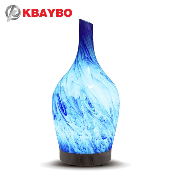 KBAYBO Elegant Vase 100ml Ultrasonic Essential Oil Aromatherapy Diffuser with 7 LED lights - Choice of International Plug and Ships Internationally - Electric Bicycle