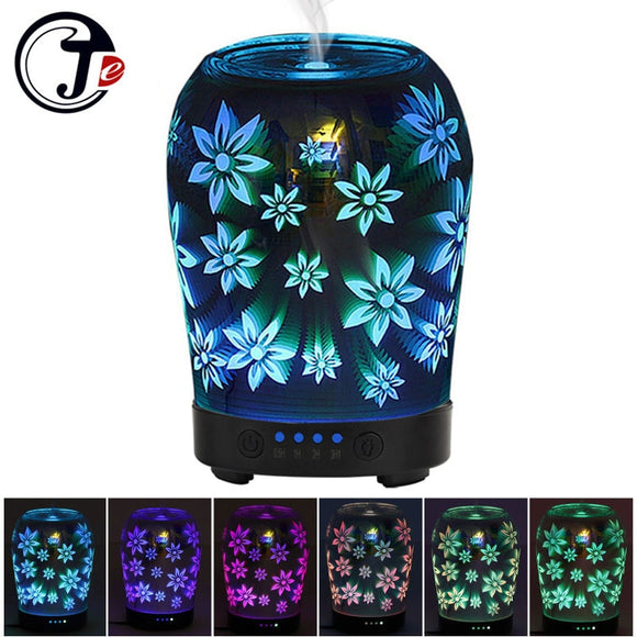 3D Flower Ultrasonic Essential Oil Aromatherapy Diffuser with Changing LED Light - Choice of International Plug - Electric Bicycle