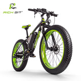 RichBit Fat Tire Powerful Electric Bicycle with 21 speeds and 48V 1000W 17Ah Lithium Battery With Computer Speedometer - Electric Bicycle