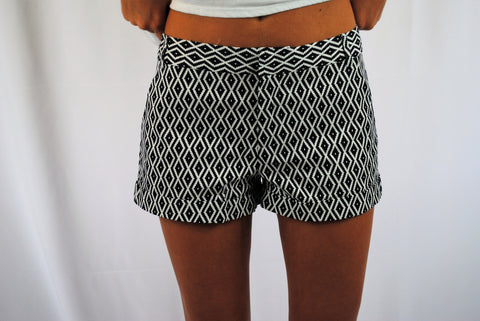 Ready for Summer Navy Print cuffed shorts