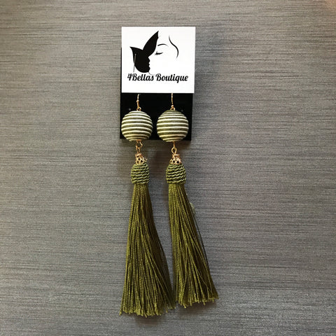 Olive me happy earrings!