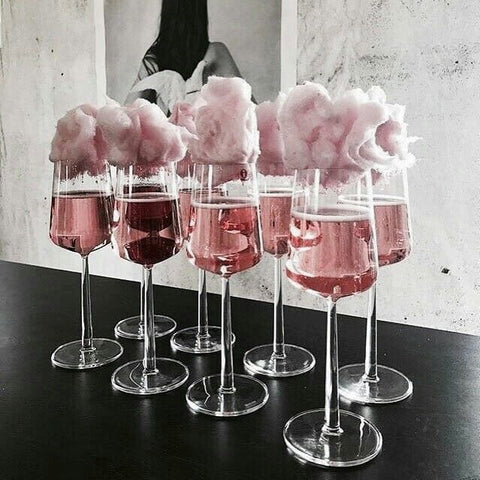 Pink candy floss cocktails